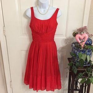 Vintage Miss Elliette Red Chiffon Dresses (T3)